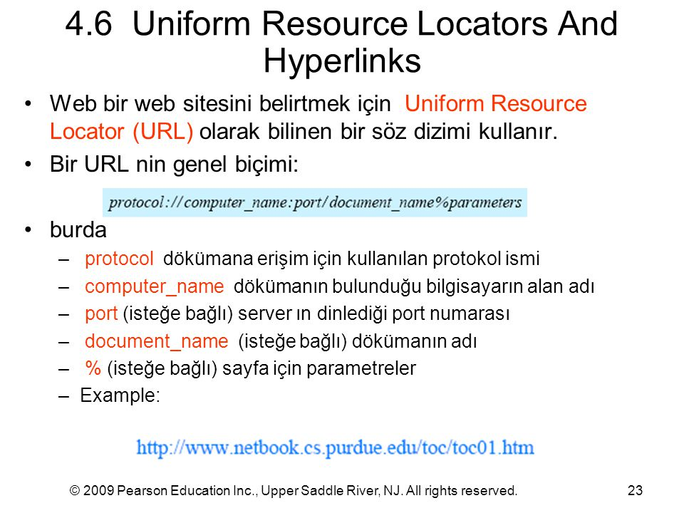 4.6 Uniform Resource Locators And Hyperlinks