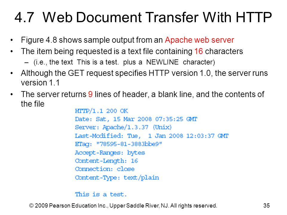 4.7 Web Document Transfer With HTTP