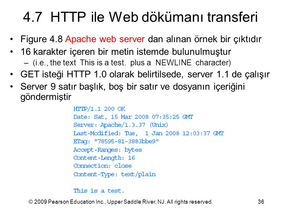 4.7 HTTP ile Web dökümanı transferi