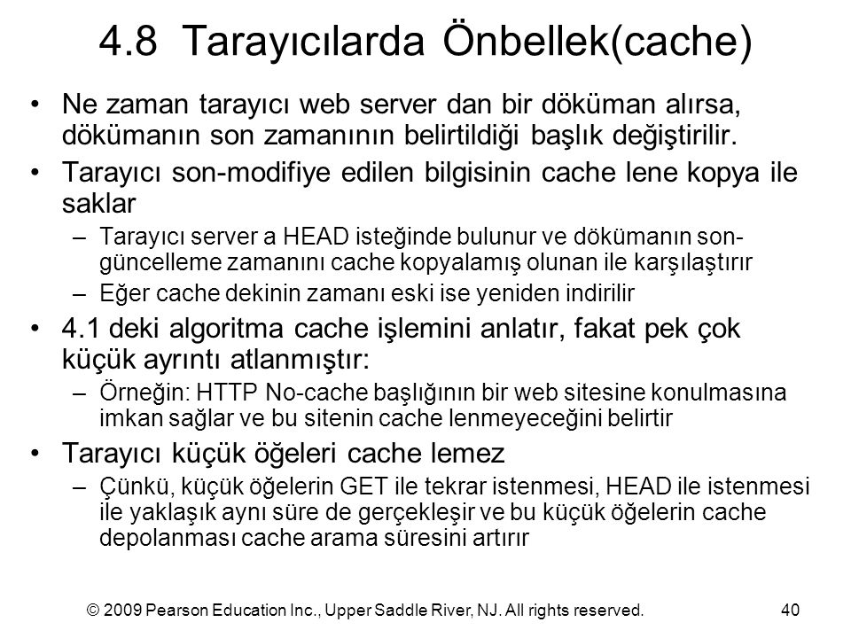 4.8 Tarayıcılarda Önbellek(cache)