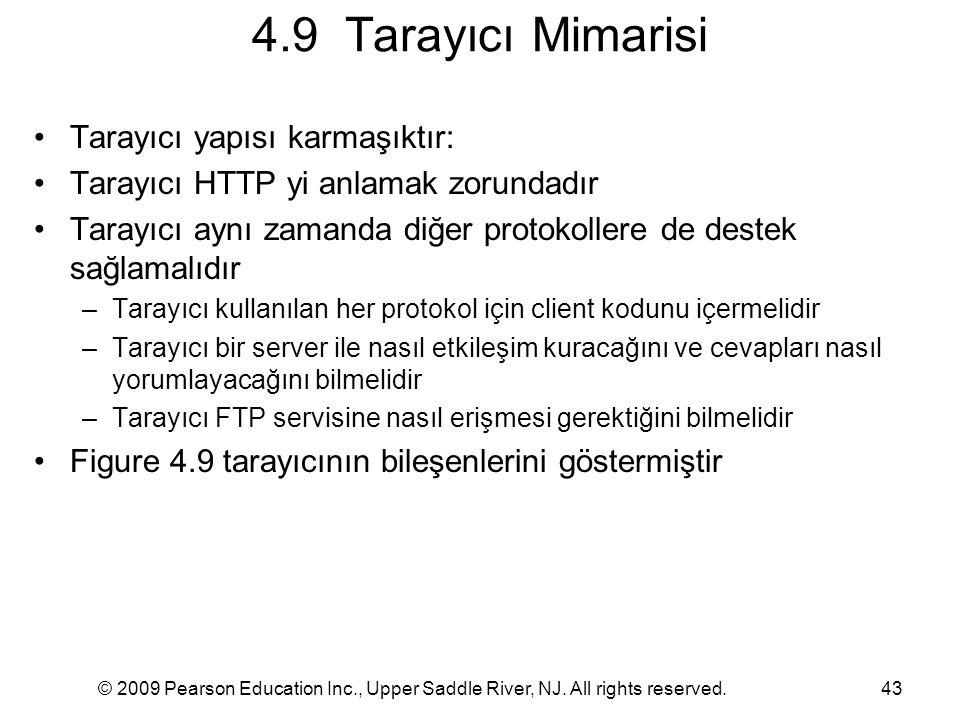 4.9 Tarayıcı Mimarisi Tarayıcı yapısı karmaşıktır: