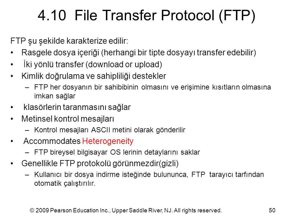 4.10 File Transfer Protocol (FTP)