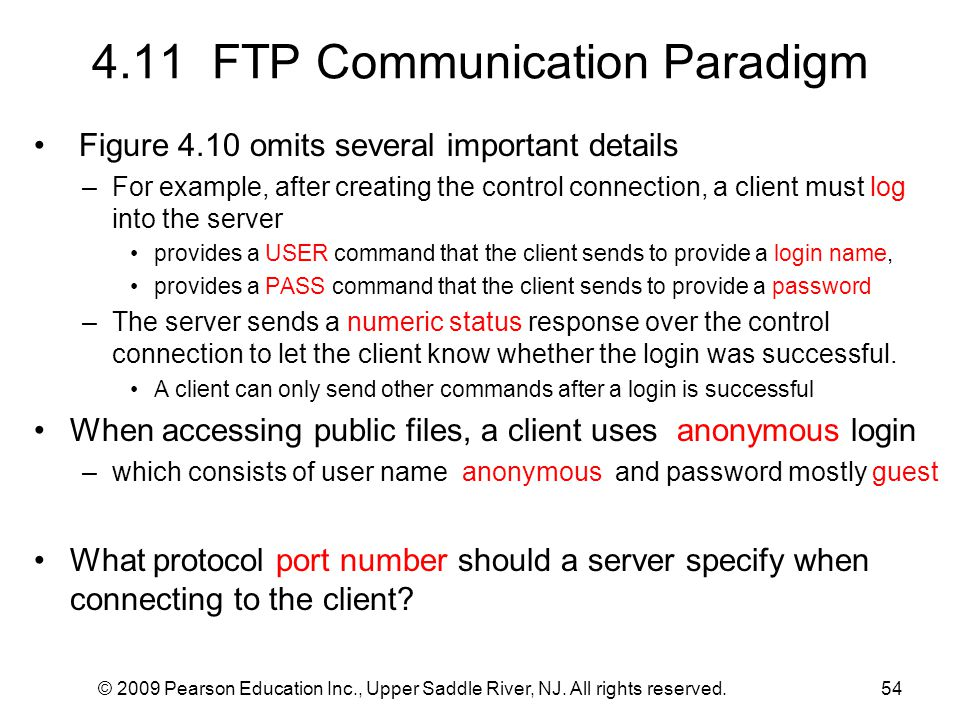 4.11 FTP Communication Paradigm