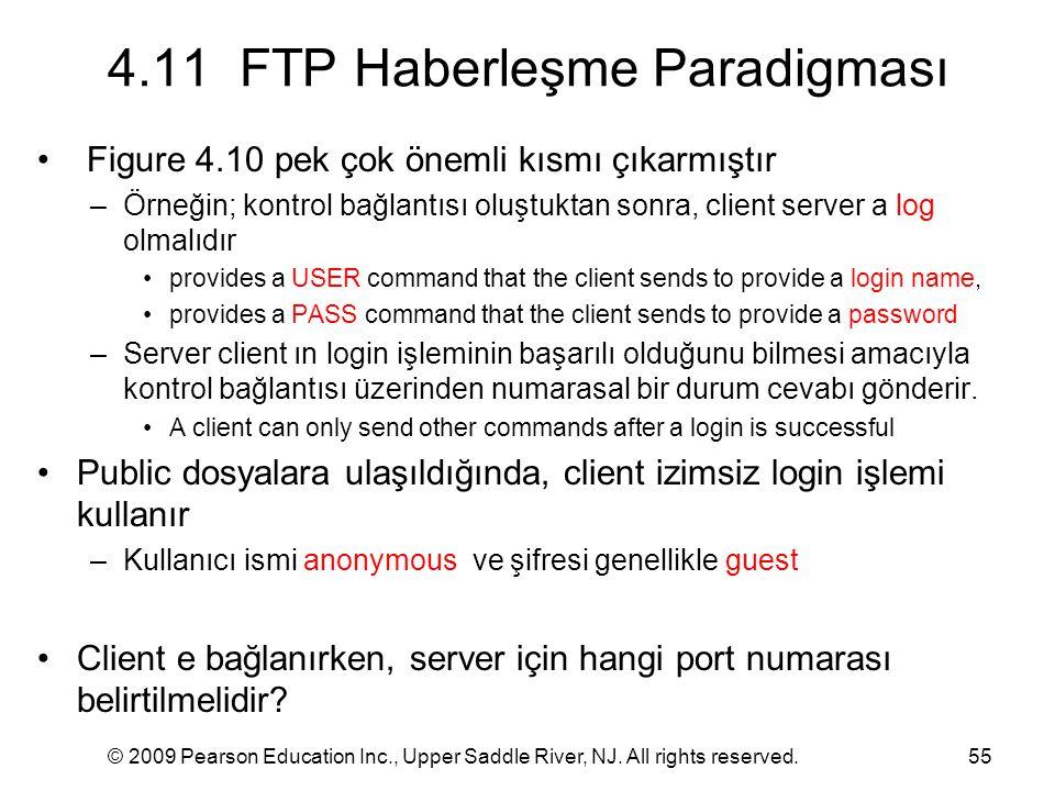 4.11 FTP Haberleşme Paradigması