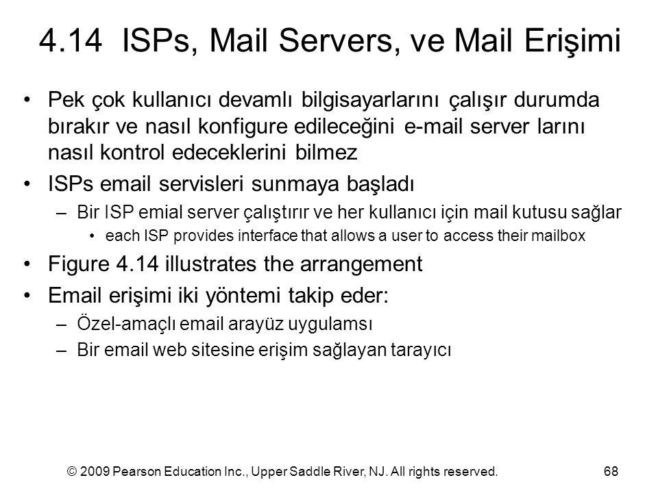 4.14 ISPs, Mail Servers, ve Mail Erişimi