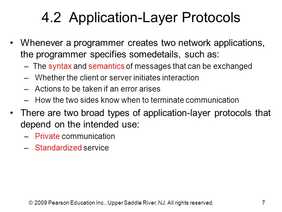 4.2 Application-Layer Protocols