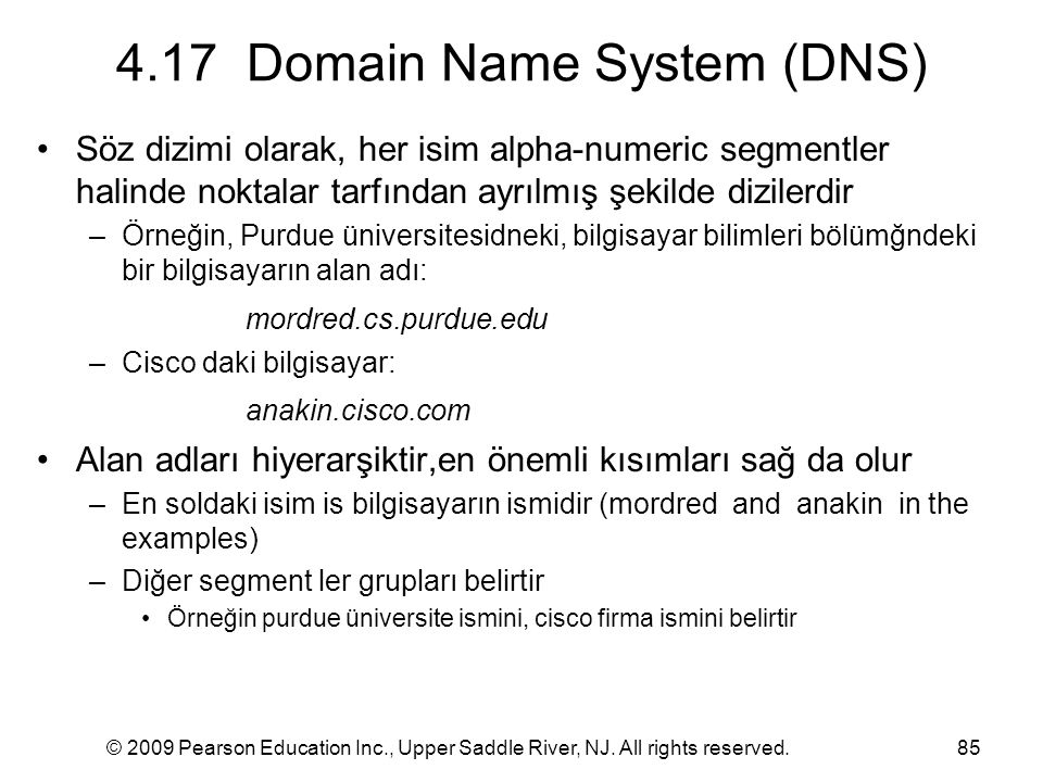4.17 Domain Name System (DNS)