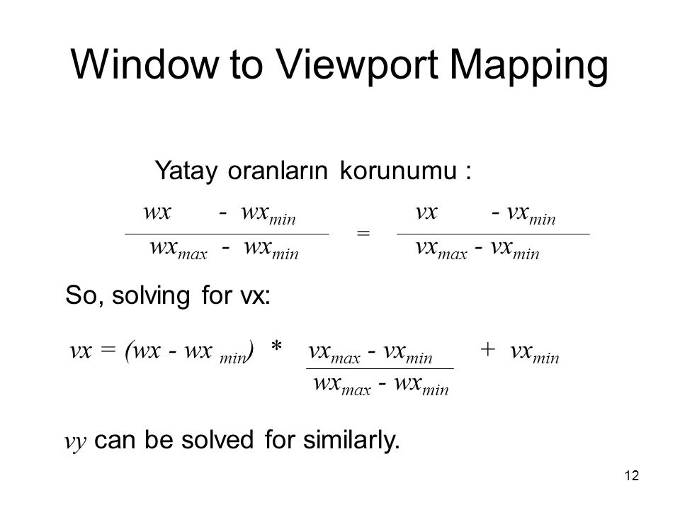 Window to Viewport Mapping