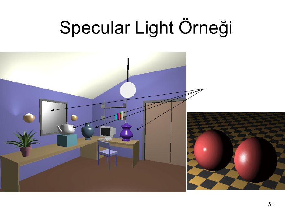 Specular Light Örneği