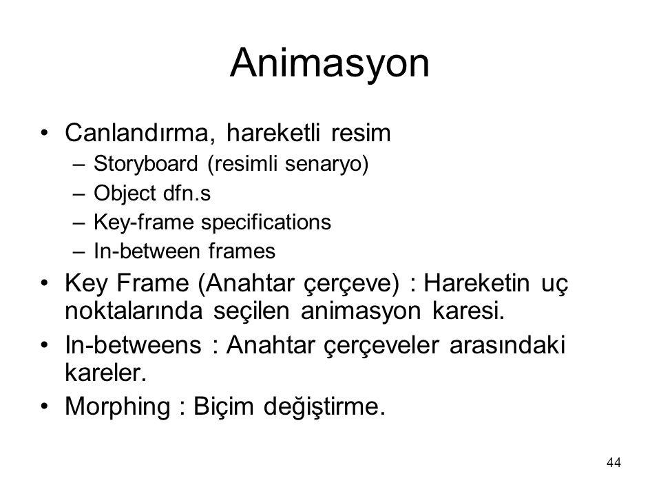 Animasyon Canlandırma, hareketli resim