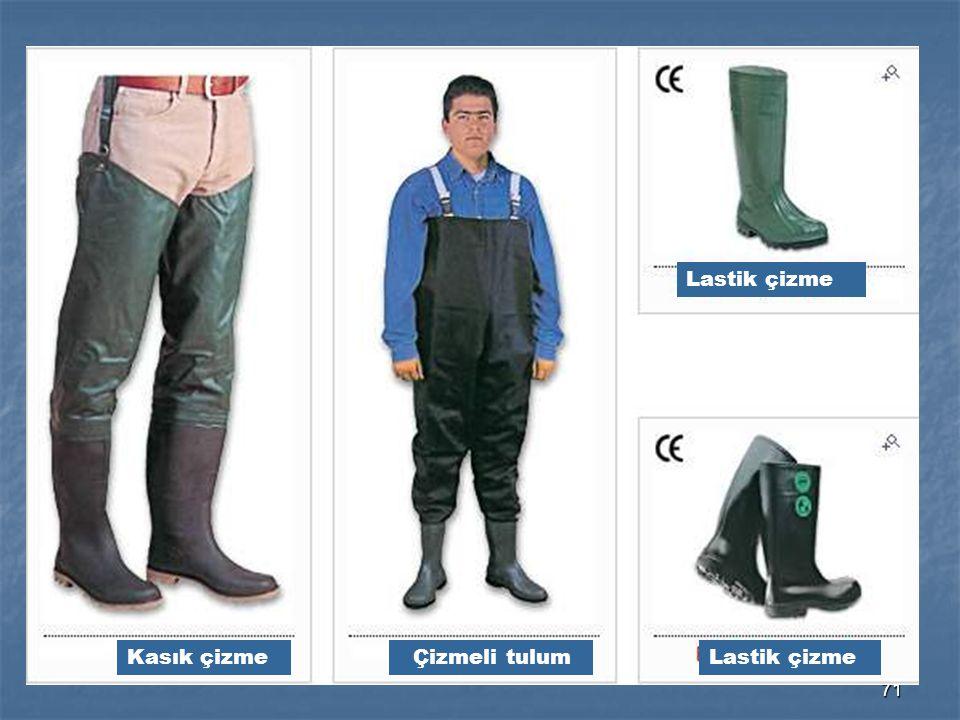 Lastik çizme Kasık çizme Çizmeli tulum Lastik çizme