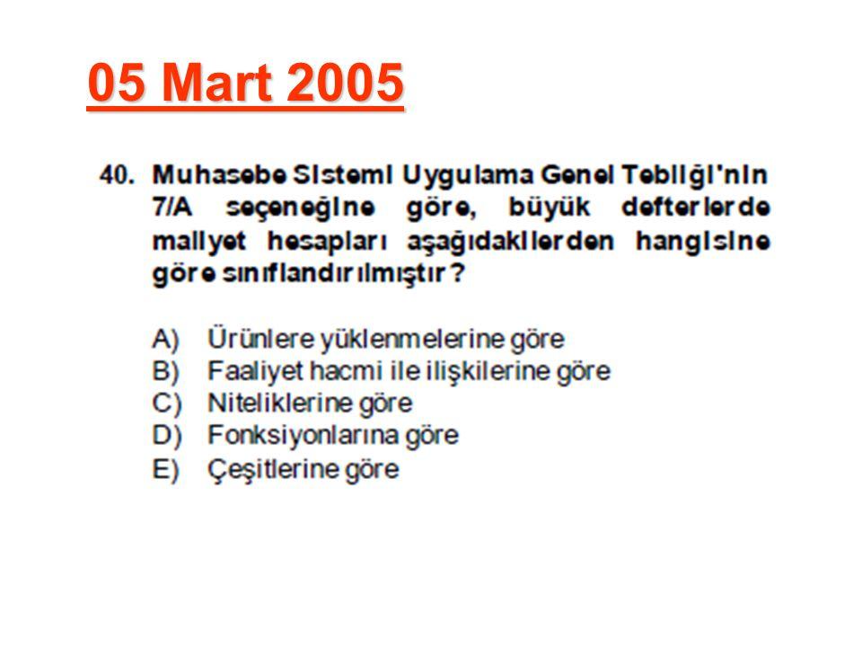 05 Mart 2005