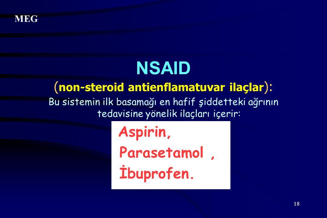 NSAID (non-steroid antienflamatuvar ilaçlar):