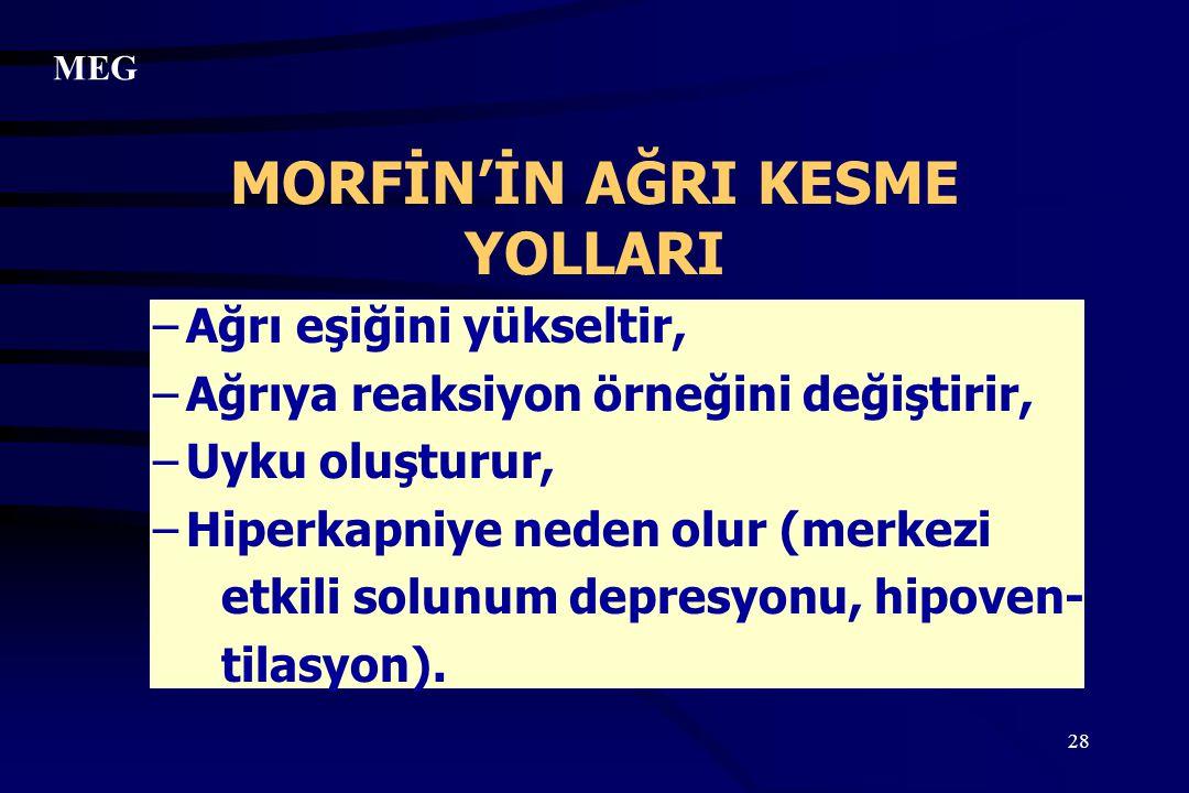 MORFİN'İN AĞRI KESME YOLLARI