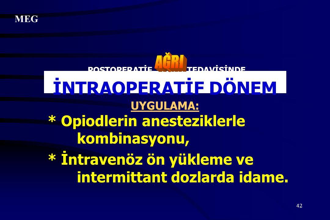 POSTOPERATİF TEDAVİSİNDE İNTRAOPERATİF DÖNEM UYGULAMA: