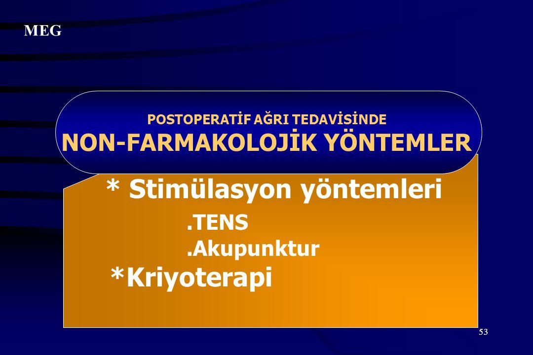 POSTOPERATİF AĞRI TEDAVİSİNDE NON-FARMAKOLOJİK YÖNTEMLER
