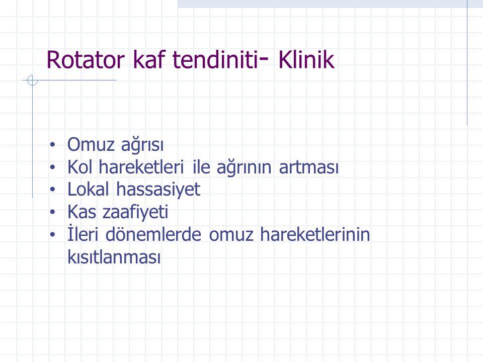 Rotator kaf tendiniti- Klinik