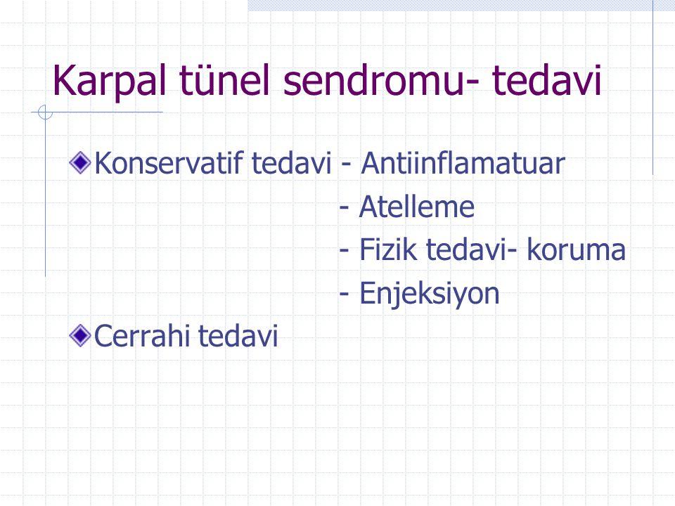 Karpal tünel sendromu- tedavi
