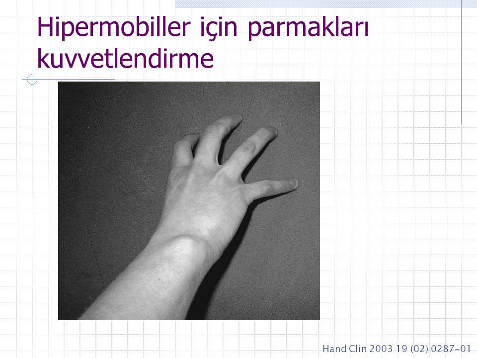 Hipermobiller için parmakları kuvvetlendirme