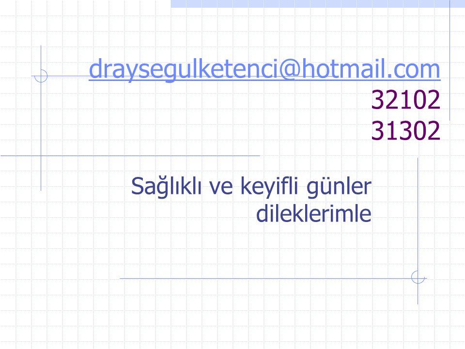 draysegulketenci@hotmail.com 32102 31302
