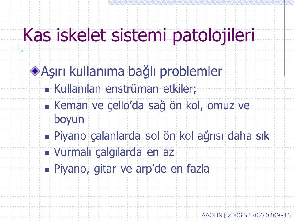 Kas iskelet sistemi patolojileri