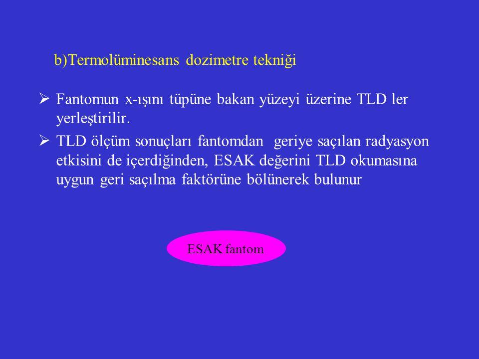 b)Termolüminesans dozimetre tekniği