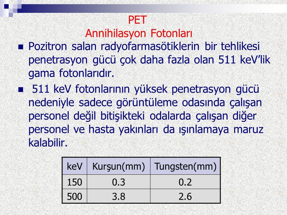 PET Annihilasyon Fotonları