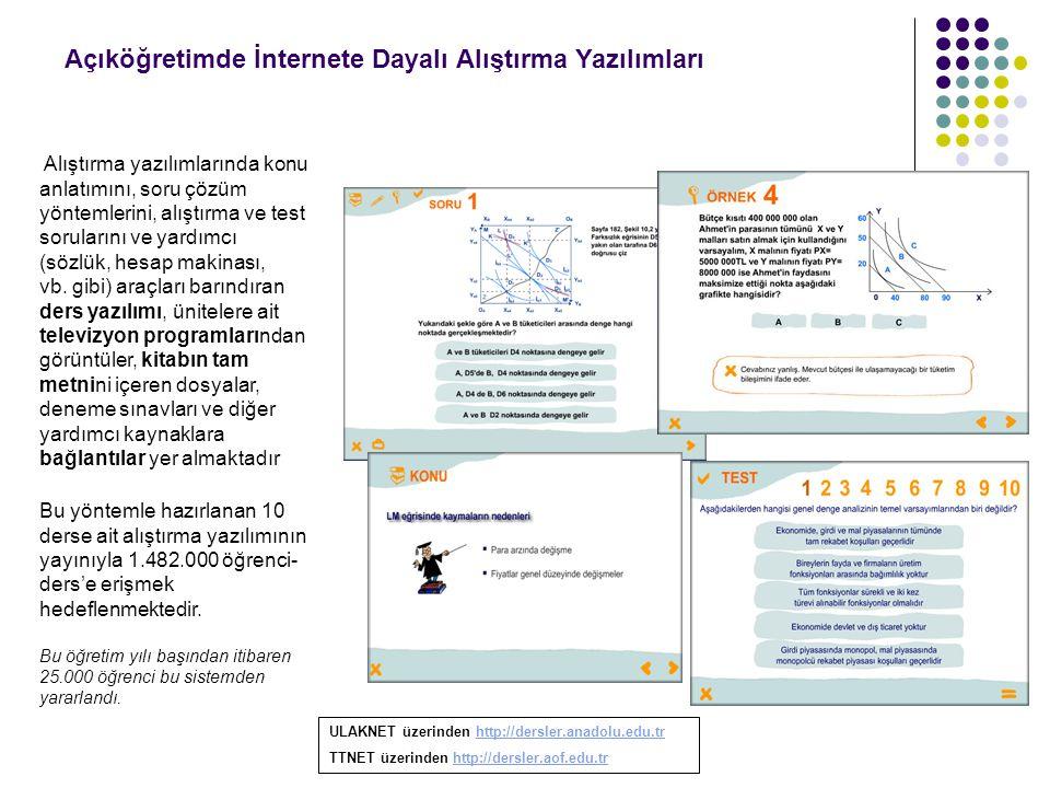 Açıköğretimde İnternete Dayalı Alıştırma Yazılımları