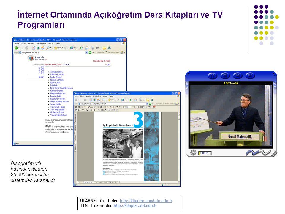 İnternet Ortamında Açıköğretim Ders Kitapları ve TV Programları