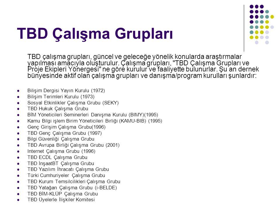 TBD Çalışma Grupları