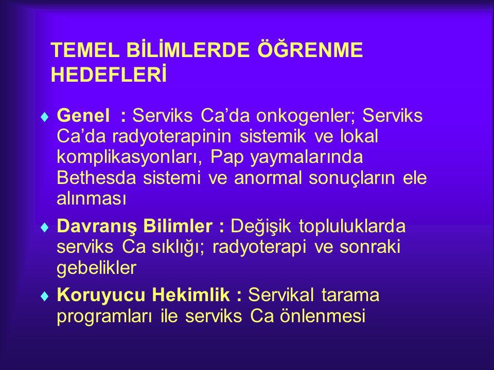 TEMEL BİLİMLERDE ÖĞRENME HEDEFLERİ