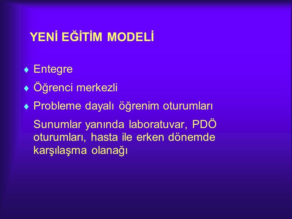 YENİ EĞİTİM MODELİ Entegre Öğrenci merkezli