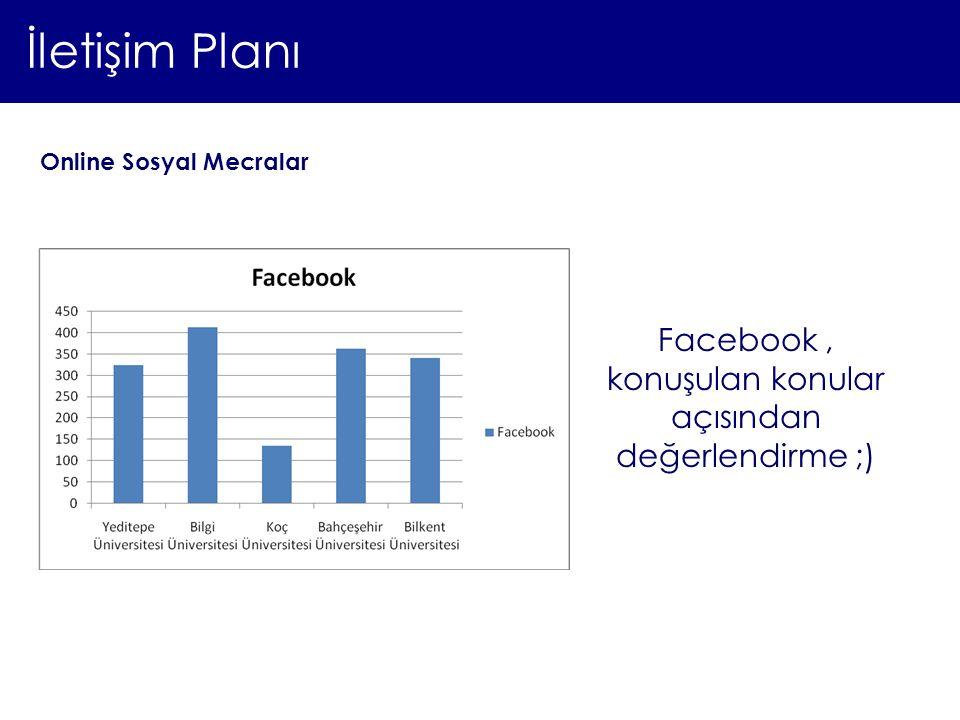 Facebook , konuşulan konular açısından değerlendirme ;)