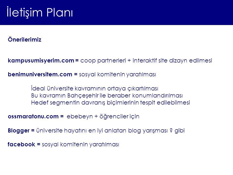 İletişim Planı Önerilerimiz