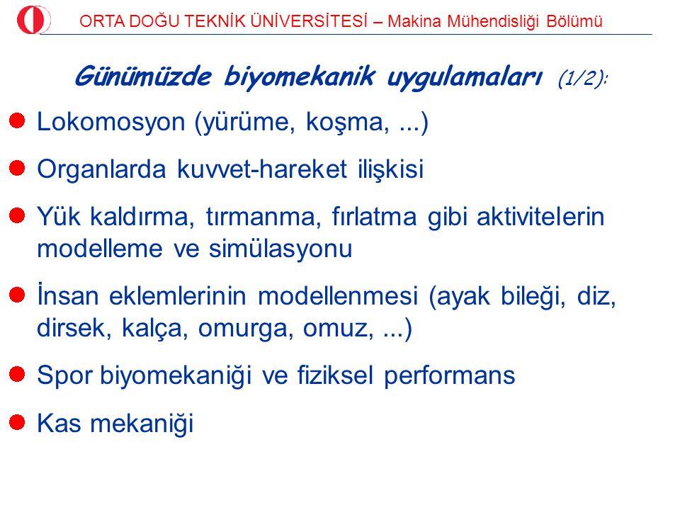 Günümüzde biyomekanik uygulamaları (1/2):