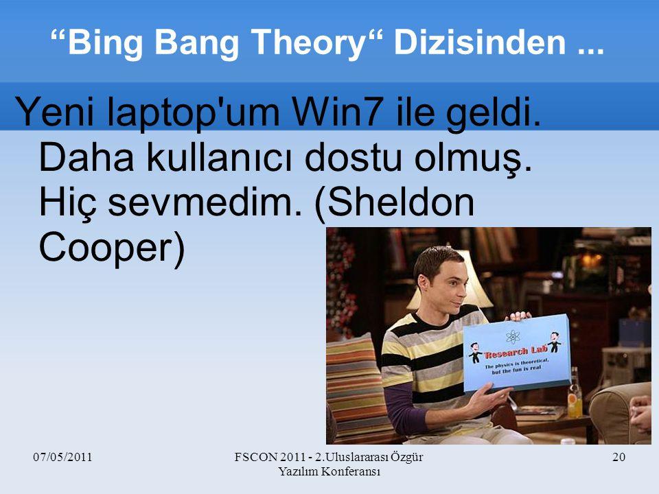 Bing Bang Theory Dizisinden ...