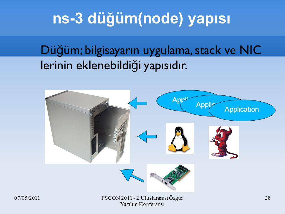 ns-3 düğüm(node) yapısı