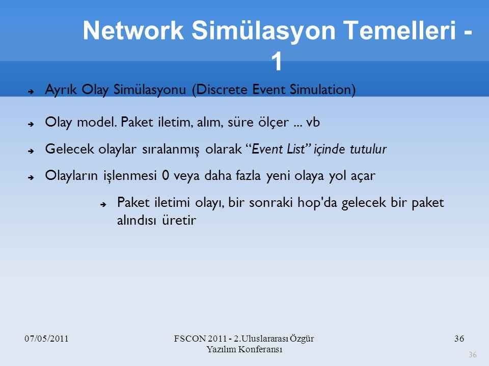Network Simülasyon Temelleri -1