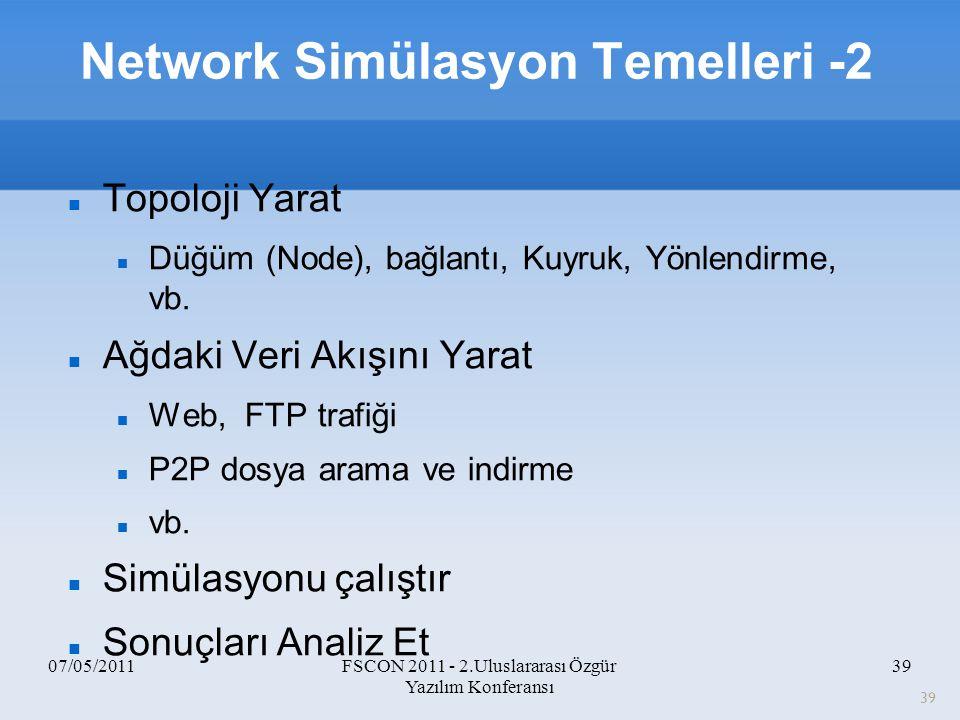 Network Simülasyon Temelleri -2