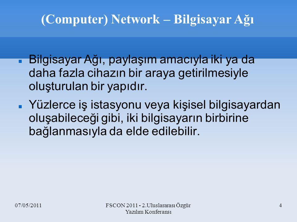 (Computer) Network – Bilgisayar Ağı