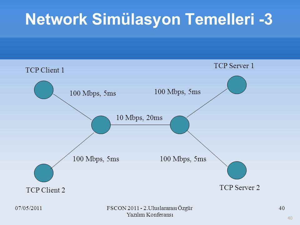 Network Simülasyon Temelleri -3