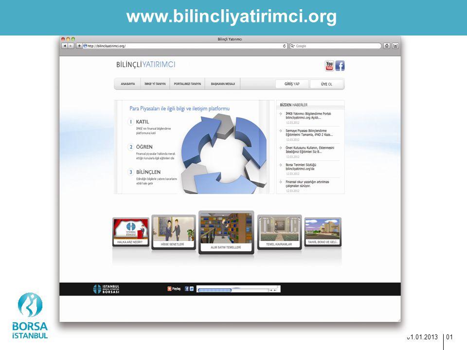 www.bilincliyatirimci.org 01.01.2013 01