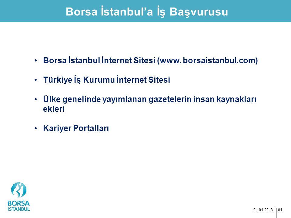 Borsa İstanbul'a İş Başvurusu