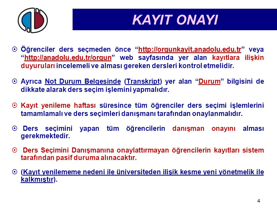 KAYIT ONAYI