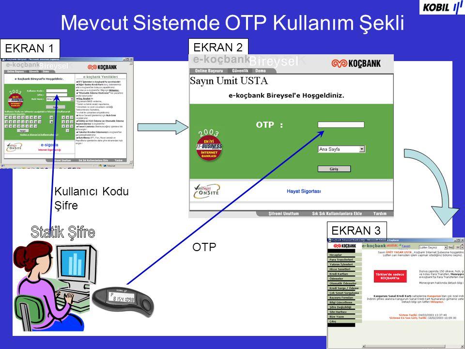 Mevcut Sistemde OTP Kullanım Şekli