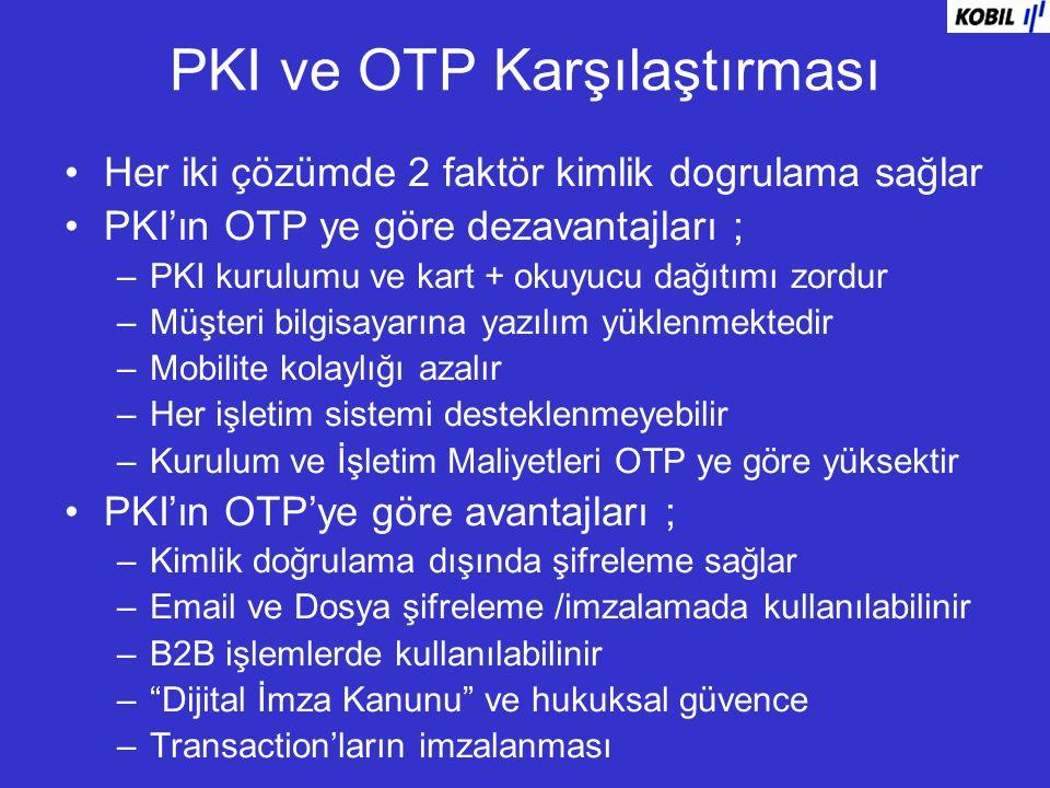 PKI ve OTP Karşılaştırması