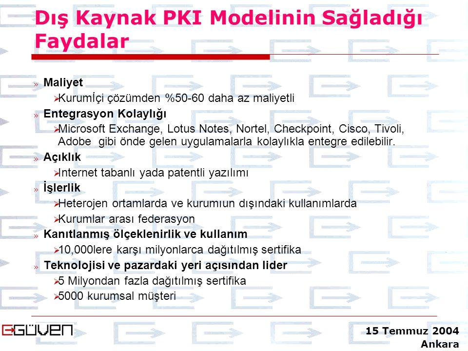 Dış Kaynak PKI Modelinin Sağladığı Faydalar