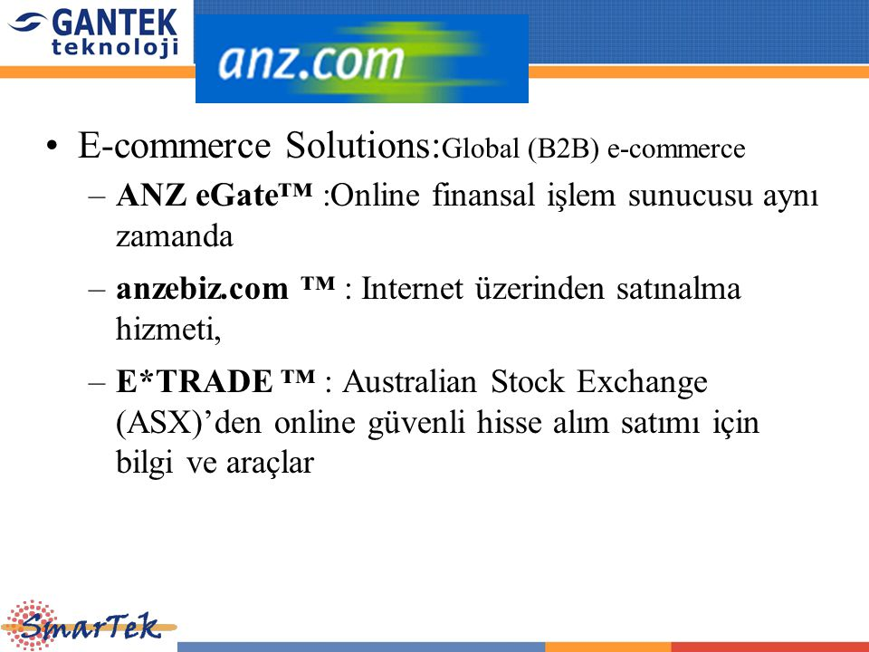 E-commerce Solutions:Global (B2B) e-commerce
