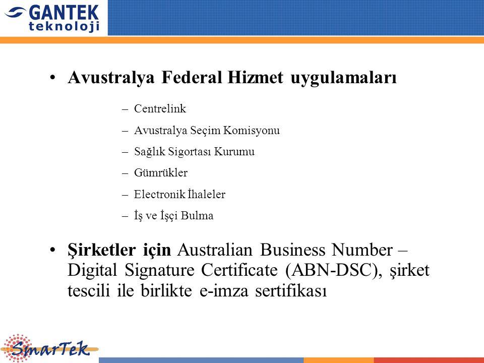 Avustralya Federal Hizmet uygulamaları