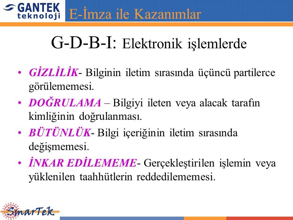 G-D-B-I: Elektronik işlemlerde